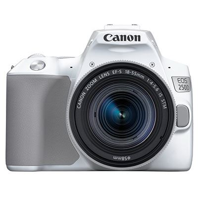 Image of Canon EOS 250D Digital SLR Camera with 18-55mm IS STM Lens - White