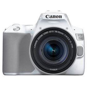Canon EOS 250D Digital SLR Camera with 18-55mm IS STM Lens - White