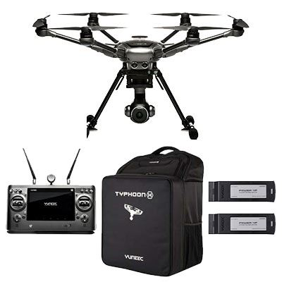 Yuneec Typhoon H Plus Hexcopter Drone with Realsense (ST16s Controller, 2x Batt + Backpack)