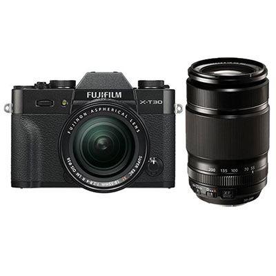 Fujifilm X-T30 Digital Camera with XF 18-55mm + XF 55-200mm Lens - Black