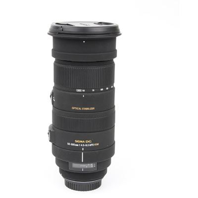 Used Sigma 50-500mm f4.5-6.3 DG OS HSM - Canon Fit
