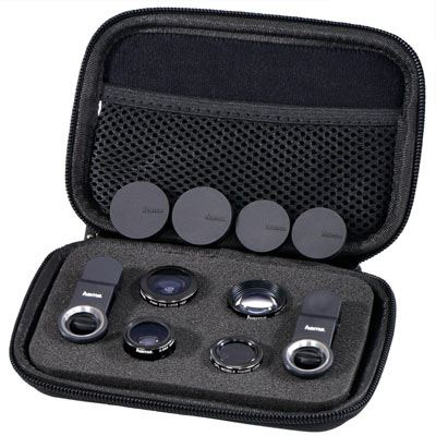Image of Hama - 5 in1 Uni Lens Kit, MC, for smartphones and tablets