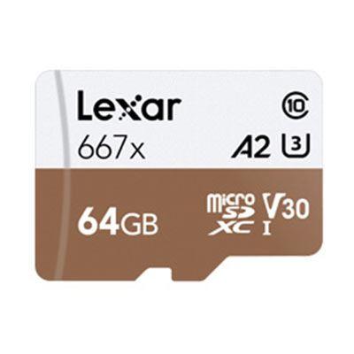 Lexar 64GB 667x (100MB/Sec) Professional UHS-I MicroSDXC Card plus Adapter