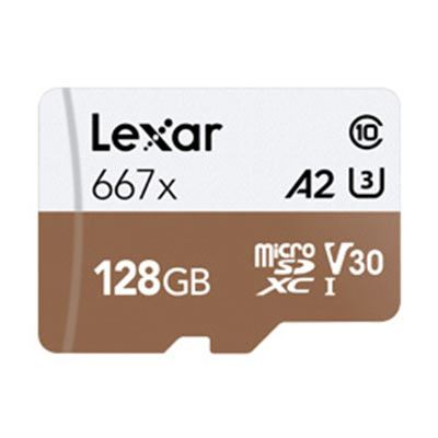 Lexar 128GB 667x (100MB/Sec) Professional UHS-I MicroSDXC Card plus Adapter