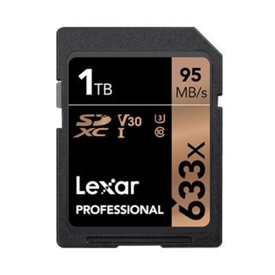 Image of Lexar 1TB 633x (95MB/Sec) Professional UHS-I SDXC Card