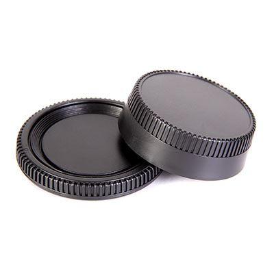 Image of Calumet Body and Rear Lens Cap Set - Nikon