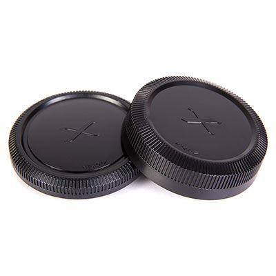 Image of Calumet Body and Rear Lens Cap Set - Fuji X