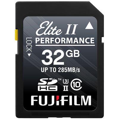 Image of Fujifilm 32GB (285MB/Sec) C10 UHS-II SDHC Memory Card