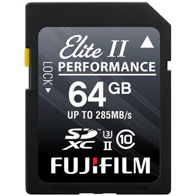 Image of Fujifilm 64GB (285MB/Sec) C10 UHS-II SDXC Memory Card