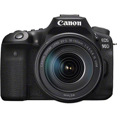 Canon EOS 90D Digital SLR Camera with 18-135mm IS USM Lens