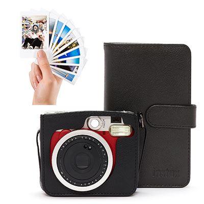 Image of Used Fujifilm Instax Mini 90 Instant Camera Red Bundle