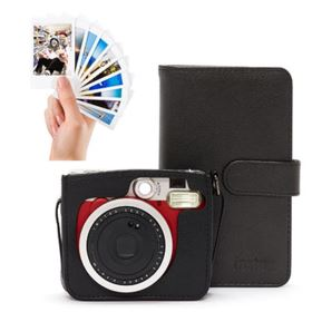 Fujifilm Instax Mini 90 Instant Camera Red Bundle
