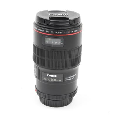 Used Canon EF 100mm f2.8L Macro IS USM Lens