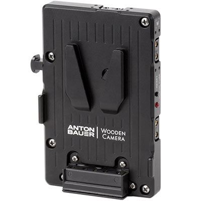 Image of Wooden Camera Pro V-Mount Power Plate featuring 3 x D-Taps