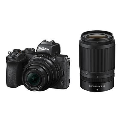 Nikon Z50 Digital Camera with 16-50mm and 50-250mm Lenses