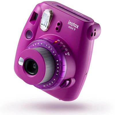 Image of Fujifilm Instax Mini 9 Instant Camera with 10 shots - Clear Purple
