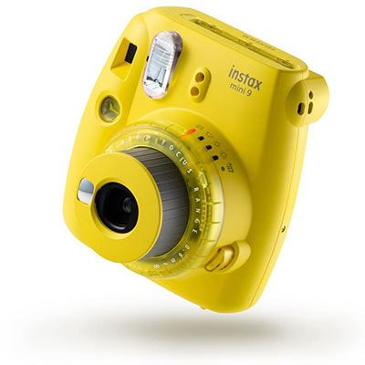 Image of Fujifilm Instax Mini 9 Instant Camera with 10 shots - Clear Yellow