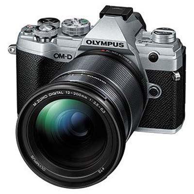 Olympus OM-D E-M5 Mark III Digital Camera with 12-200mm Lens - Silver