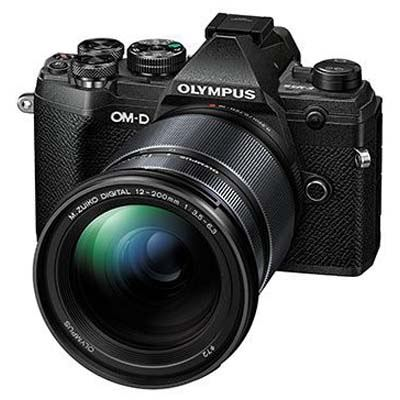 Olympus OM-D E-M5 Mark III Digital Camera with 12-200mm Lens - Black