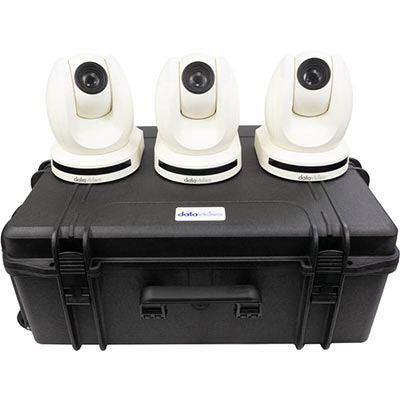 Image of Datavideo 3 x PTC150W HD PTZ Camera and custom foam hardcase