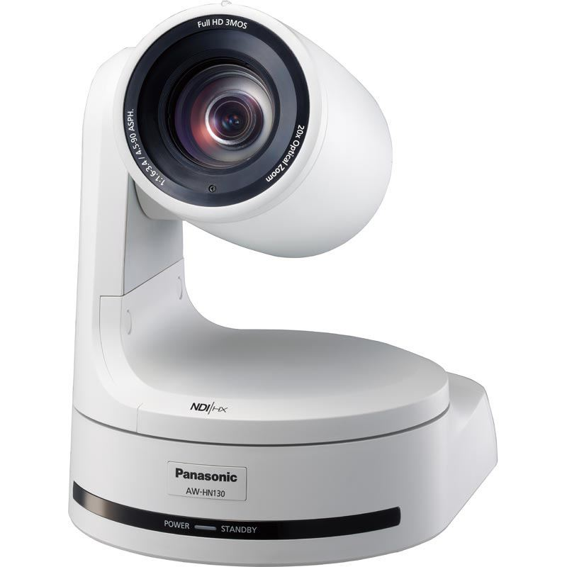 Image of Panasonic AW-HN130WEJ 1/3 HD Integrated Camera with NDI (White)
