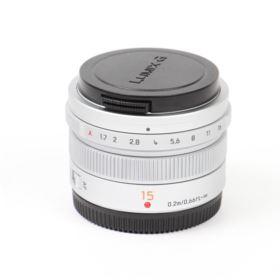 Used Panasonic 15mm f1.7 Leica Summilux DG ASPH Micro Four Thirds Lens - Silver