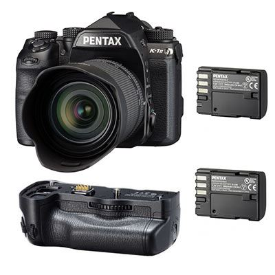Pentax K-1 Mark II Digital SLR Camera with 28-105mm lens + D-BG6 Battery Grip + 1 Extra Battery