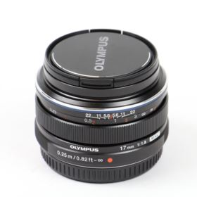 Used Olympus 17mm f1.8 M.ZUIKO Digital Lens - Black