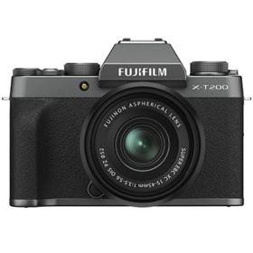 Fujifilm X-T200 Digital Camera with XC 15-45mm Lens - Dark Silver