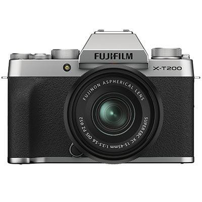 Fujifilm X-T200 Digital Camera with XC 15-45mm Lens - Silver