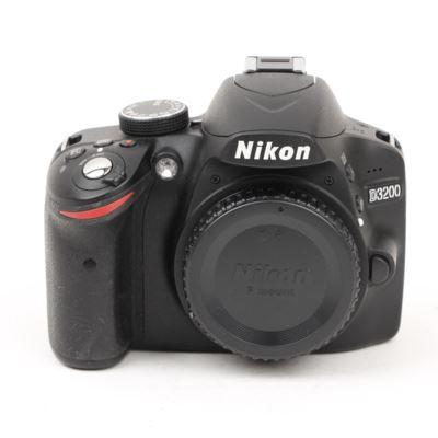 Used Nikon D3200 Digital SLR Camera Body - Black