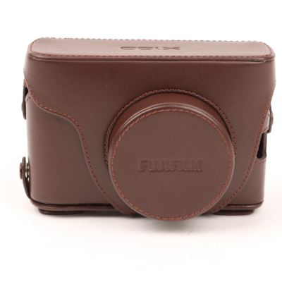 Used Fuji LC-X100S Premium Leather Case - Brown