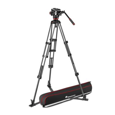 Manfrotto 504X Fluid Video Head with CF Twin Leg Tripod GS
