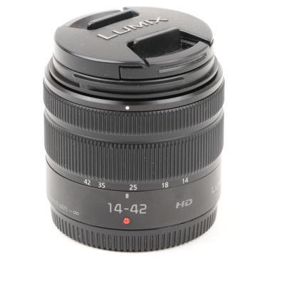 Used Panasonic 14-42mm F3.5-5.6 II HD LUMIX G VARIO ASPH. MEGA O.I.S. Lens - Black