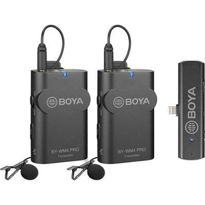 Image of Boya Wireless Microphone Kit for iOS devices 1+2