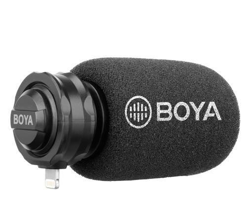 Image of Boya Plug on Microphone for iOS devices