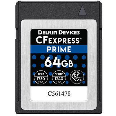 Image of Delkin 64GB 1450x Cfexpress PRIME Memory Card