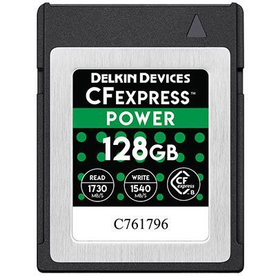 Image of Delkin 128GB 1600x Cfexpress POWER Memory Card