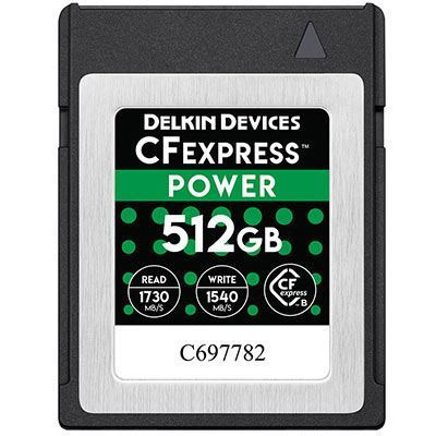Image of Delkin 512GB 1730x Cfexpress POWER Memory Card