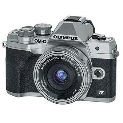 Olympus OM-D E-M10 Mark IV Digital Camera with 14-42mm lens - Silver