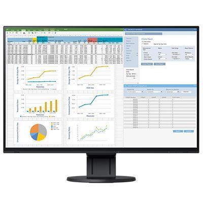 Image of EIZO FlexScan EV2457 24 Inch IPS Monitor - Black