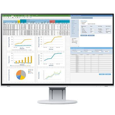 Image of EIZO FlexScan EV2457 24 Inch IPS Monitor - White