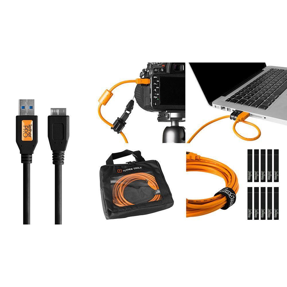 Image of TetherTools Starter Tethering Kit - TetherPro USB 3.0 to Micro-B 15 Inch (4.6m) Black