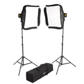 Interfit Badger Beam 60W LED Twin-Head Softbox Kit