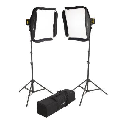 Interfit Badger Beam 60W LED Twin-Head Softbox Kit