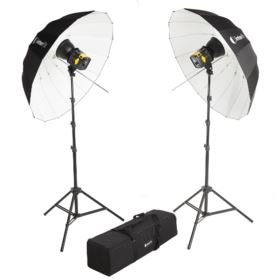 Interfit Badger Beam 60W LED Twin-Head Umbrella Kit