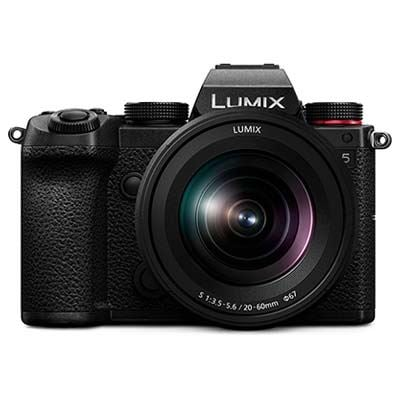 Panasonic Lumix S5 Digital Camera with 20-60mm Lens plus Shooting Grip and Spare battery
