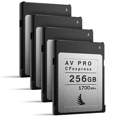 Angelbird 256GB 1700MB/Sec AV PRO CFexpress (Type-B) - 4 Pack