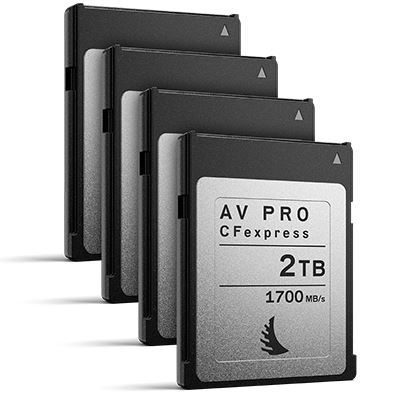 Image of Angelbird 2TB 1700MB/Sec AV PRO CFexpress (Type-B) - 4 Pack