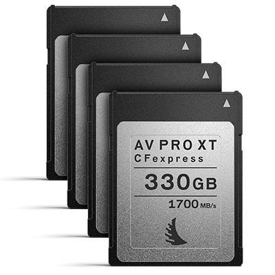 Image of Angelbird 330GB 1700MB/Sec AV PRO CFexpress XT (Type-B) - 4 Pack